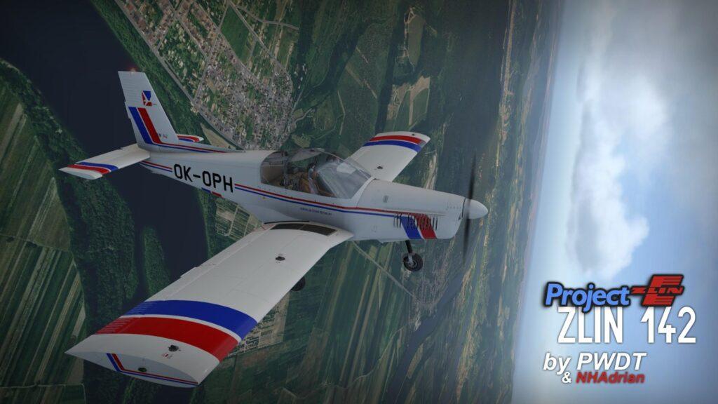 Świetnej jakości darmowy model samolotu Zlin Z-142