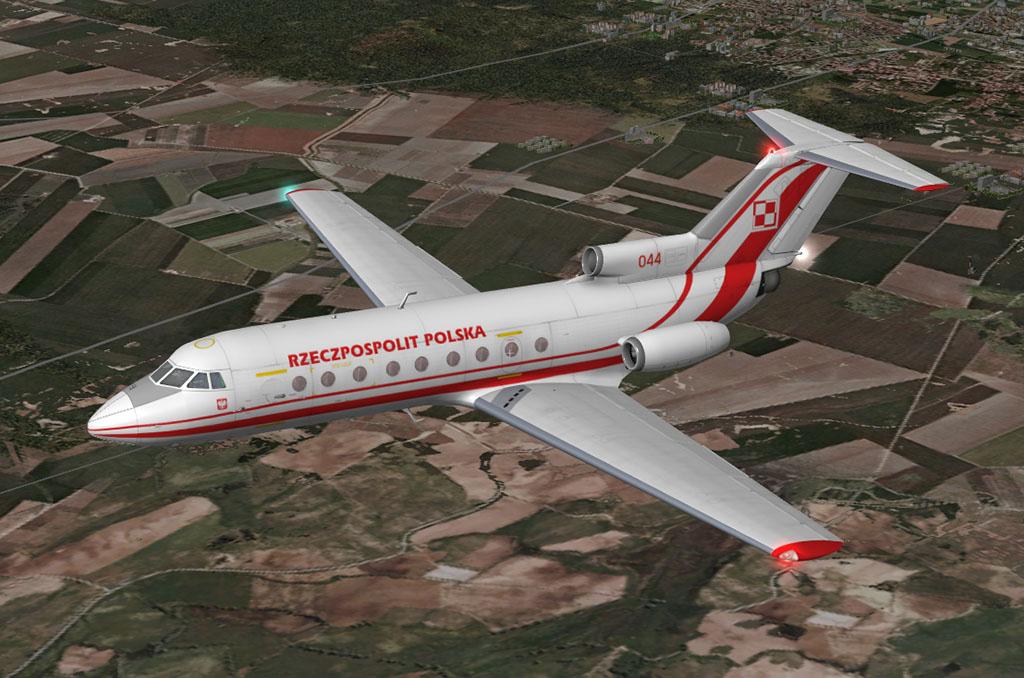 Samolot dyspozycyjny Jakowlew Jak-40, nr 044, w barwach 36. Specjalnego Samodzielnego Pułku Lotniczego