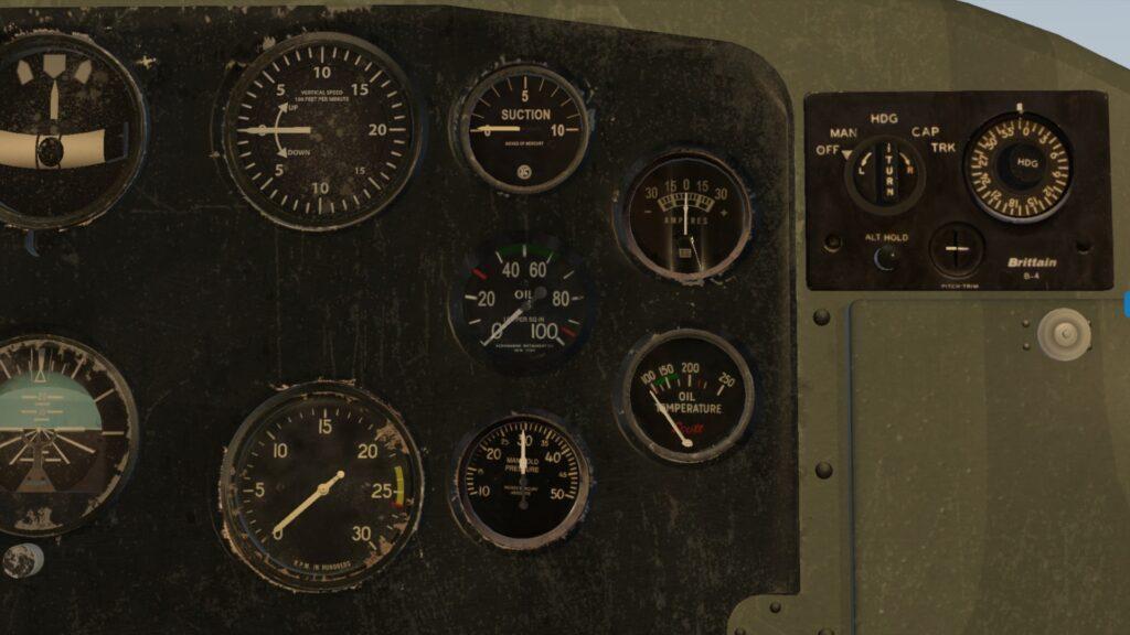 Autopilot Brittain B-4 pomimo prostego wyglądu, posiada większość przydatnych podczas lotu funkcji
